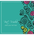 Zentangle hand drawn floral template vector