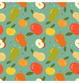 Seamless apple and pear pattern vector