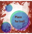 Abstract frame design with round place for text vector