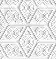 White seamless geometric pattern vector