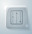 Equalizer glass square icon vector