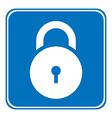 Lock symbol button vector