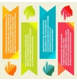 Banners for information pointing hand vector