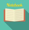 Flat design blank notebook vector