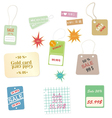 Set of colourful price tags on a white background vector