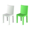 Chair isolated on white background vector