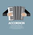 Vintage musical instrument accordion vector