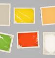 Vintage color post stamps template clip-art vector