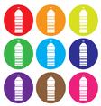 Bottle icon set vector