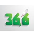 Normal body temperature symbol - coloured vector