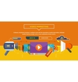 Video marketing concept for banner presentation vector