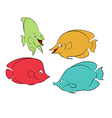 Color fishes vector