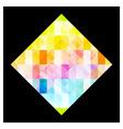 Multicolored rhombus vector