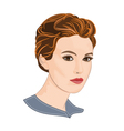 Girl with short hair vector