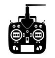Remote control rc transmitter black icon vector