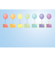 Balloons with boards vector