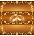 Wedding greeting or invitation card vector