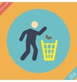 Littering sign icon -  flat vector