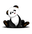 Sitting panda vector