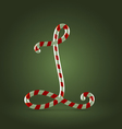 Candy cane abc l vector