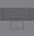 Laptop keyboard us thai vector
