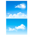 Set of nature backgrounds with cloud and sky vector