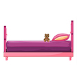 A pink bed vector