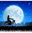 Bicycle and moon vector
