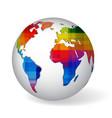 Rainbow colored glob icon vector