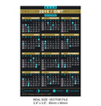 Calendar 2015 with phases of the moon gmt vector