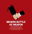 Broken bottle as weapon vector