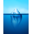 Iceberg background vector
