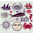 Marine objects vector