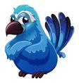 A big blue bird vector