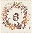 Autumn design with owl vector