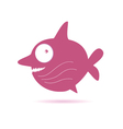 Sweet pink fish vector