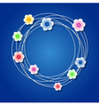 Colored floral wreath vector