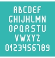 Simple colorful font complete abc alphabet set vector