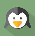 Modern flat design penguin icon vector