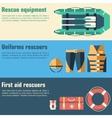 Emergency service paramedic lifeguard equipment vector
