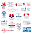 Wedding invitation collection vector