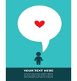 Love card with man with speech bubble vector