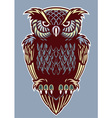 Vintage color style of owl bird vector