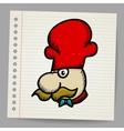 Chef cook cartoon face vector