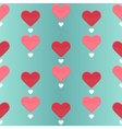 Seamless pattern with many sweet hearts vector