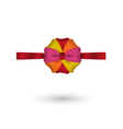 Red yellow pink and orange elegant bow vector