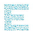 Water letter e vector
