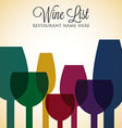 Bright wine list menu cover in format vector
