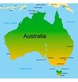 Map of australian continent vector