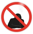 No smoking sign background vector